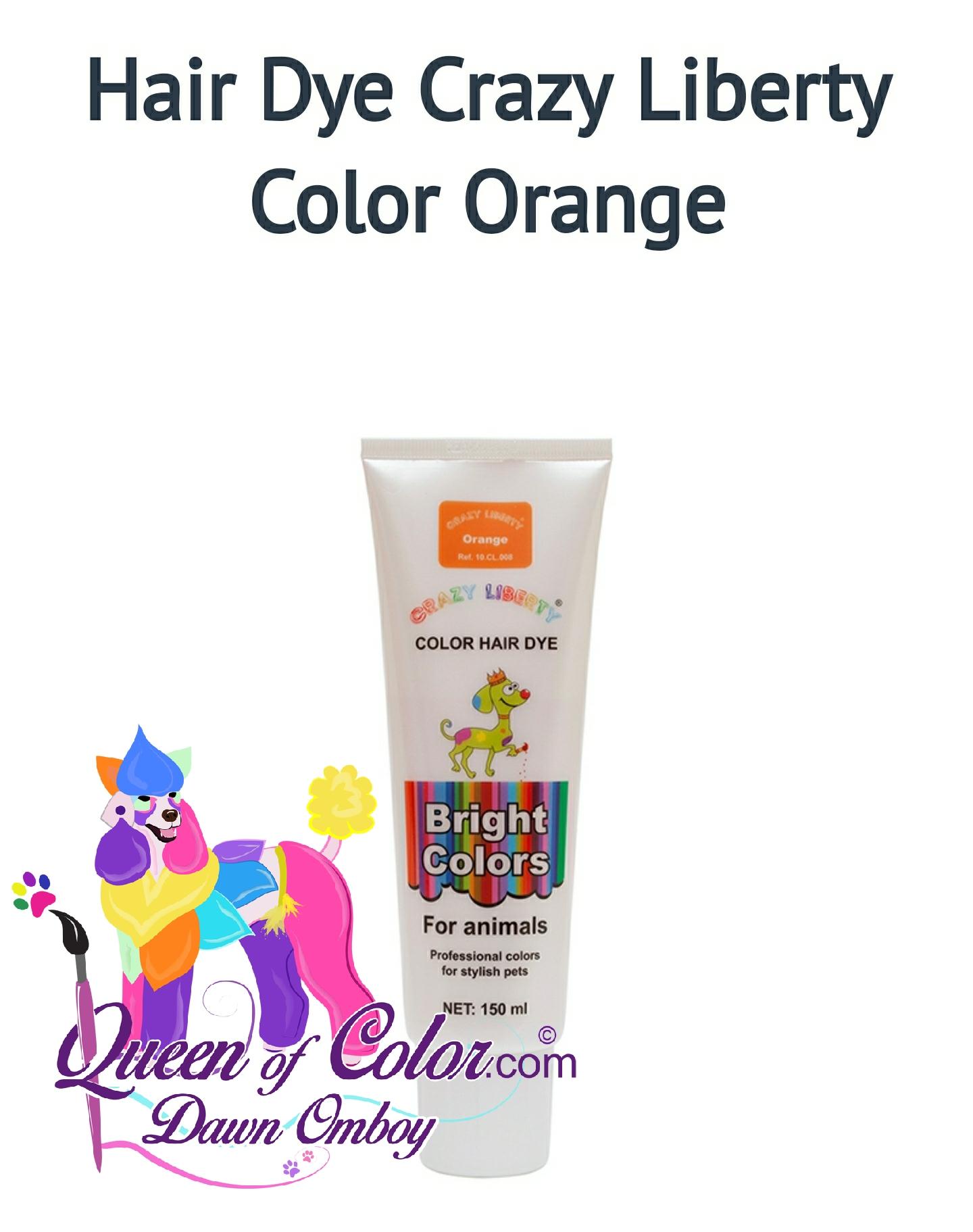 Queen Of Colorpet Hair Dye Quot Crazy Liberty Quot Orange Queen